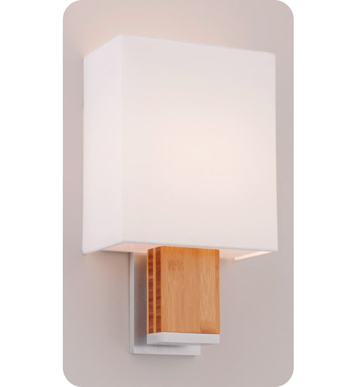 Ayre DIA1-A-WS-PA-EB-INC Boutique Dia ADA Wall Sconce Light With Finish: Polished Aluminum And Lamping Type: Incandescent And Wood Finish: Ebony