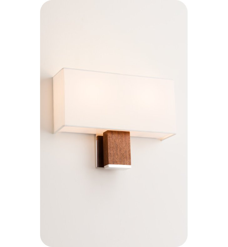 Ayre DIAD-A-WS-BA-SP-INC Boutique Dia Double ADA Wall Sconce Light With Finish: Brushed Aluminum And Lamping Type: Incandescent And Wood Finish: Sapele