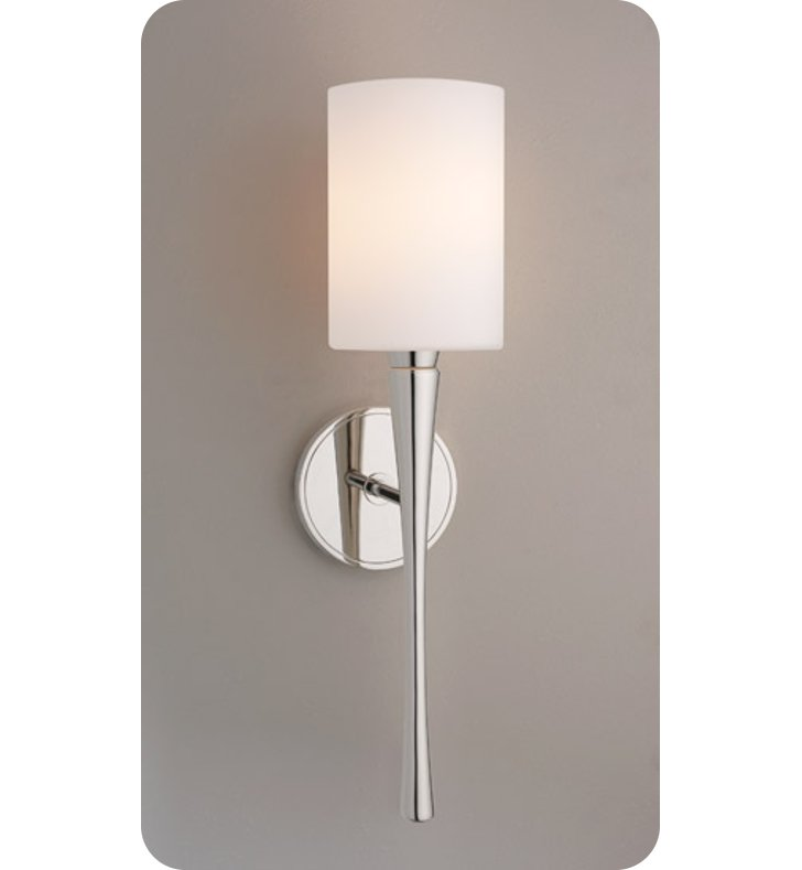 Ayre EUR3-S-CM-PN-LED Euro Wall Sconce Light with Cased Matte Opal Glass Diffuser With Finish: Polished Nickel And Lamping Type: LED