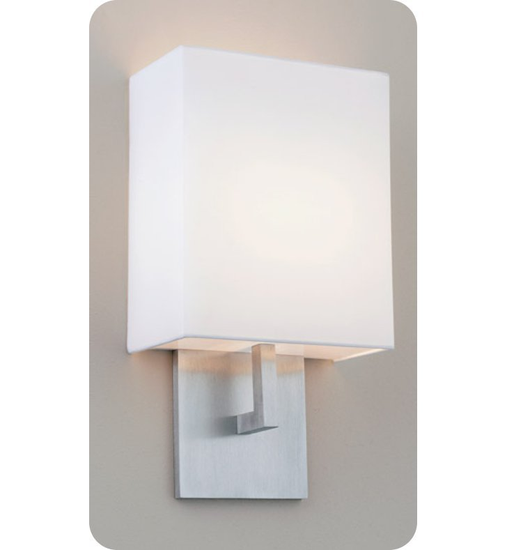 Ayre HEL1-A-WS-OB-INC Boutique Helika ADA Wall Sconce Light with White Shantung Diffuser With Finish: Oil Rubbed Bronze And Lamping Type: Incandescent