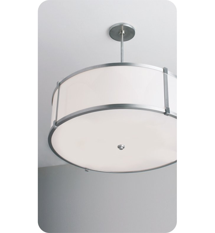 "Ayre LBP24-P-SA-BN-N-INC Litebox 24"" Customizable Pendant Light with Shiny Opal Acrylic Diffuser With Finish: Brushed Nickel And Lamping Type: Incandescent And Crossbars: No Crossbars"