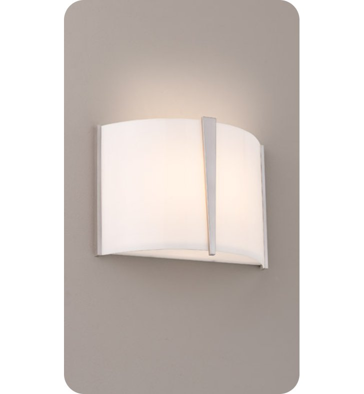Ayre LYR1-A-SA-PN-INC Lyric Wall Sconce Light with Shiny Opal Acrylic Diffuser With Finish: Polished Nickel And Lamping Type: Incandescent