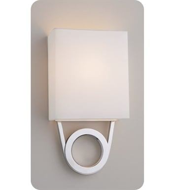 Ayre RIO1-A-WS-BA-FL Boutique Rio ADA Wall Sconce Light with White Shantung Diffuser With Finish: Brushed Aluminum And Lamping Type: Fluorescent