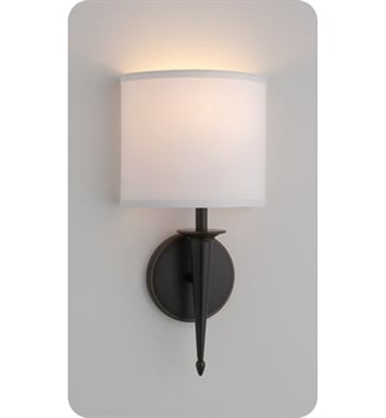 Ayre SIE1-A-WS-PN-LED Siena ADA Wall Sconce Light with White Shantung Diffuser With Finish: Polished Nickel And Lamping Type: LED