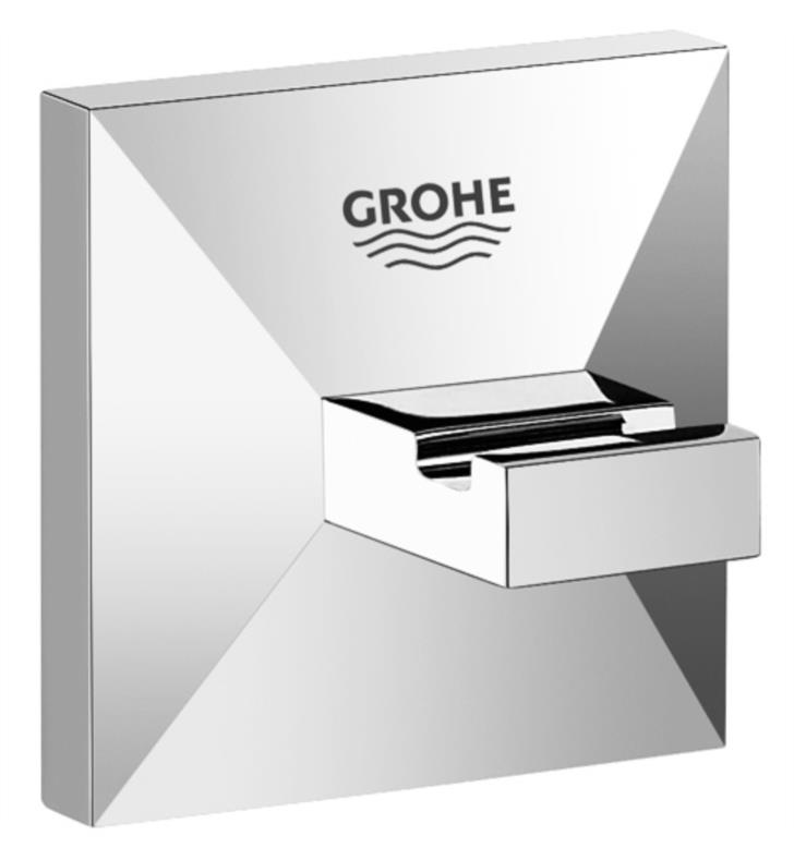 "Grohe 40498000 Allure Brilliant 2"" Wall Mount Robe Hook in Chrome"