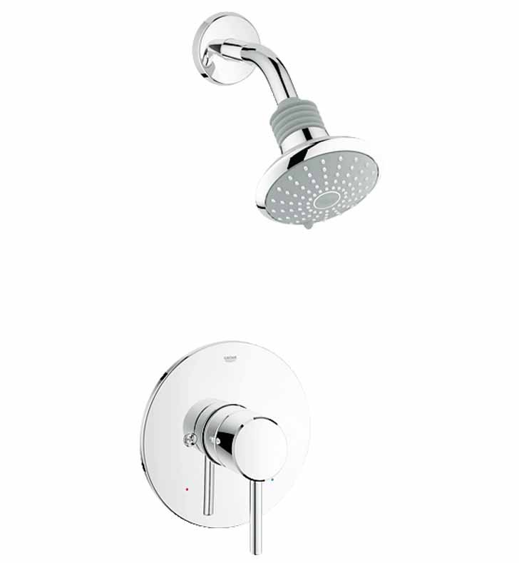 Grohe 35010001 Concetto Pressure Balance Valve Shower Combination in Chrome