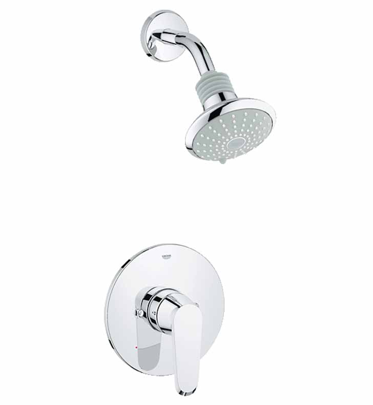 Grohe 35008002 Eurodisc Cosmopolitan Pressure Balance Valve Shower Combination in Chrome