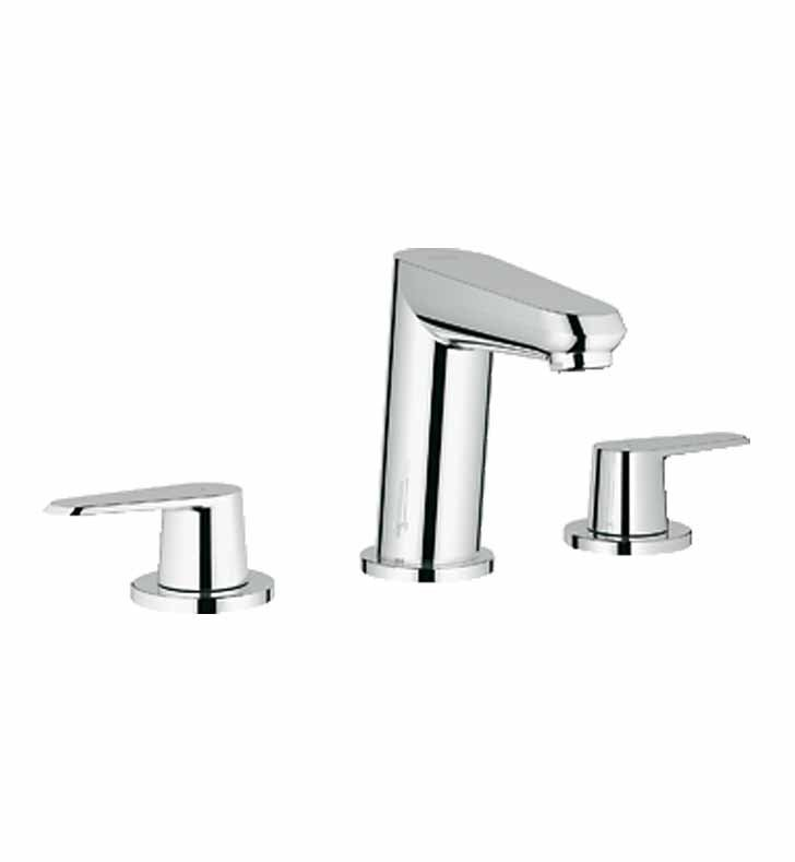 Grohe 20215002 Eurodisc Cosmopolitan Widespread Bathroom Faucet in Chrome