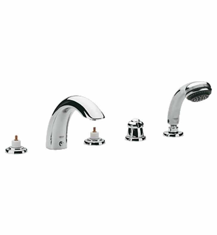 Grohe 25597EN0 Talia Roman Tub Faucet with Hand Shower in Brushed Nickel