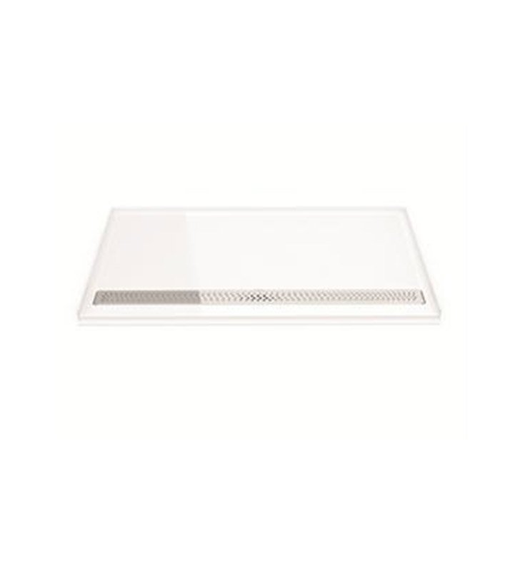 Fleurco ABF3763AD-18-11 Adaptek Roll-In ADA Shower Base With Finish: White And Drain Cover: Chrome Finish Drain Cover