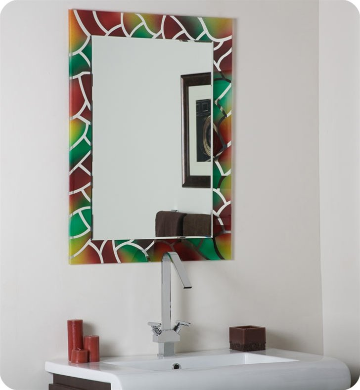 Decor Wonderland SSM533 Mosaic Frameless Bathroom Mirror