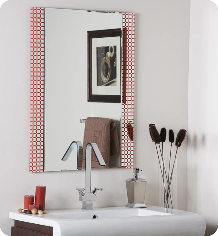 Decor Wonderland SSM635 Hip to Be Square Frameless Bathroom Mirror