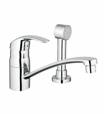 Grohe 31134001 Eurosmart Kitchen Centerset Faucet with Side Spray in Chrome