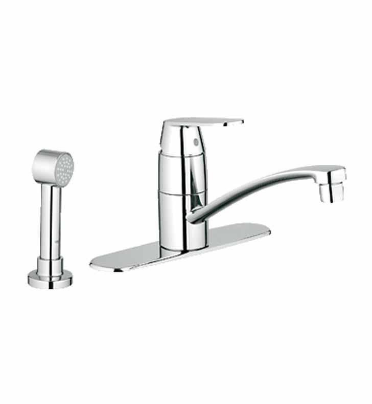 Grohe 31353000 Eurosmart Cosmopolitan Kitchen Centerset with Side Spray and Escutcheon in Chrome
