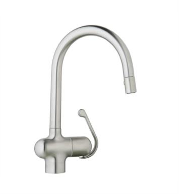 "Grohe 32245SD0 Ladylux 15 1/4"" One Handle Deck Mounted Kitchen Faucet in Stainless Steel/Brushed"