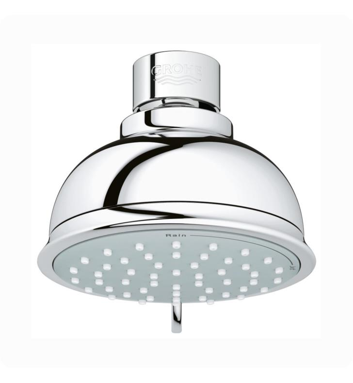 "Grohe 26080000 New Tempesta Rustic 100 4"" Multi-Function Showerhead with DreamSpray Technology in Chrome"