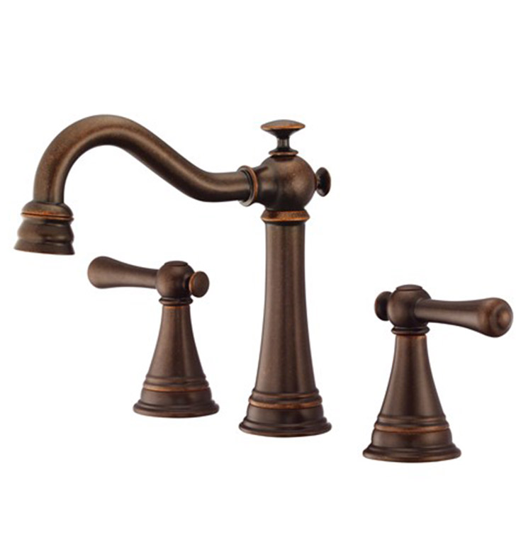 Danze D304026BR Cape Anne™ Two Handle Widespread Lavatory Faucet in Tumbled Bronze