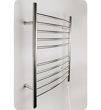 Amba RWP-CB Radiant Straight or Curved Plug-in Towel Warmer With Shape: Curved And Finish: Brushed