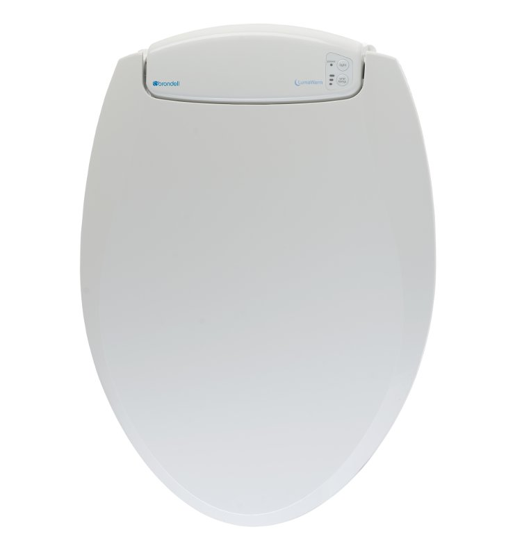 Brondell L60 LumaWarm Heated Toilet Seat with LED Nightlight