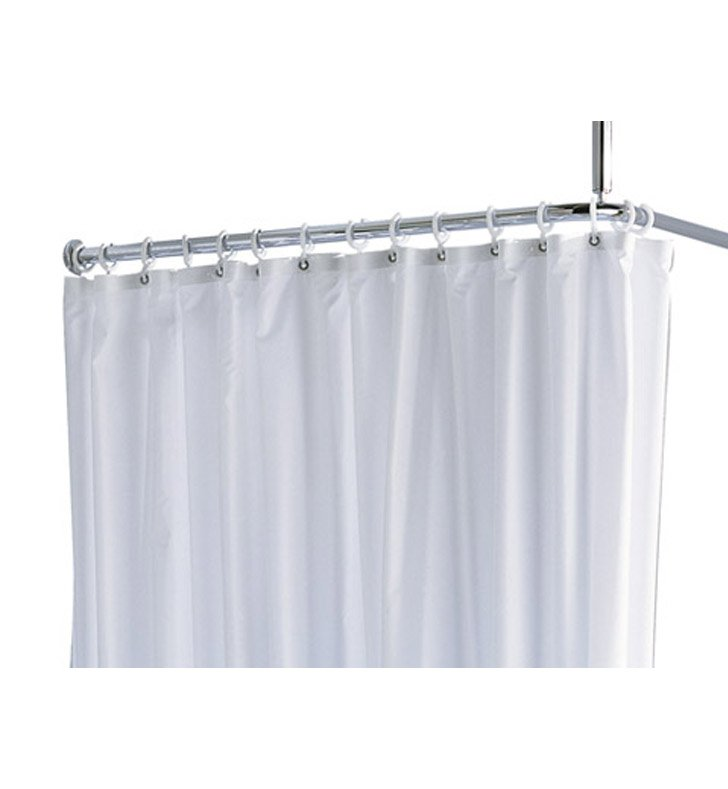 "Keuco 14943000120 Plan Shower Curtain With Configuration: Size: 78 3/4"" x 70 7/8"" 