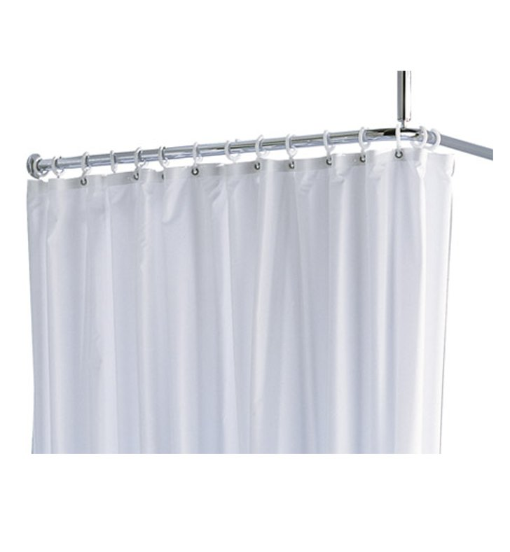 "Keuco 14944006110 Plan Shower Curtain With Configuration: Size: 55"" x 70 7/8"" 