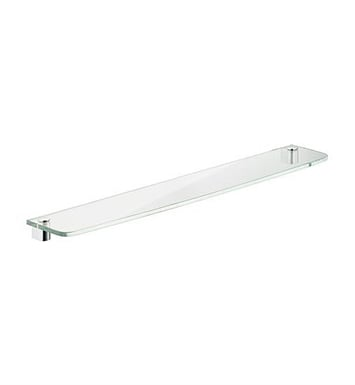 "Keuco 11610009300 Elegance Crystal Glass Shelf With Configuration: Size:W 14 1/2"" x H 3/8"" x D 5 1/8""  
