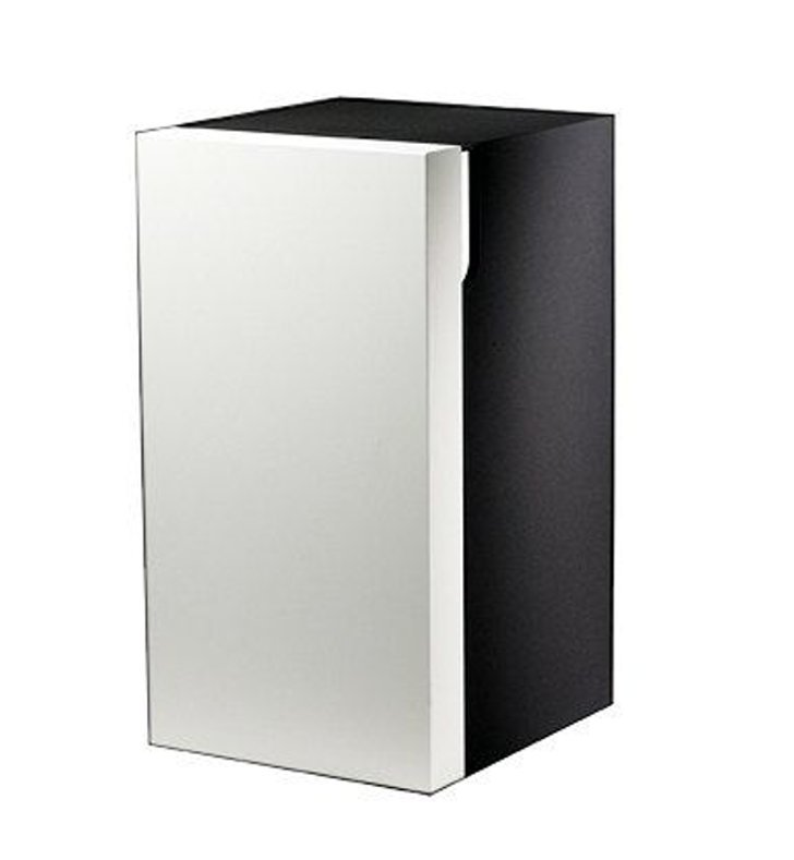 Keuco 30330396802 Edition 300 Modern Medicine Bathroom Cabinet With Configuration: Hinge: Right| Body Finish: White | Front Finish: Walnut Veneer