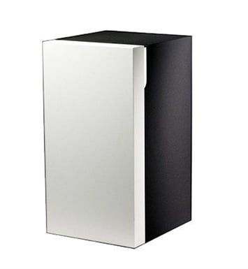 Keuco 30330406801 Edition 300 Modern Medicine Bathroom Cabinet With Configuration: Hinge: Left| Body Finish: Sahara| Front Finish: Walnut Veneer