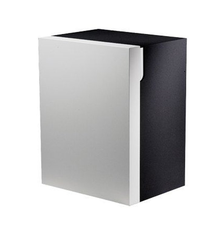 Keuco 30331392102 Edition 300 Modern Medicine Bathroom Cabinet With Configuration: Hinge: Right| Body Finish: Grey | Front Finish: High Gloss White Alpine |