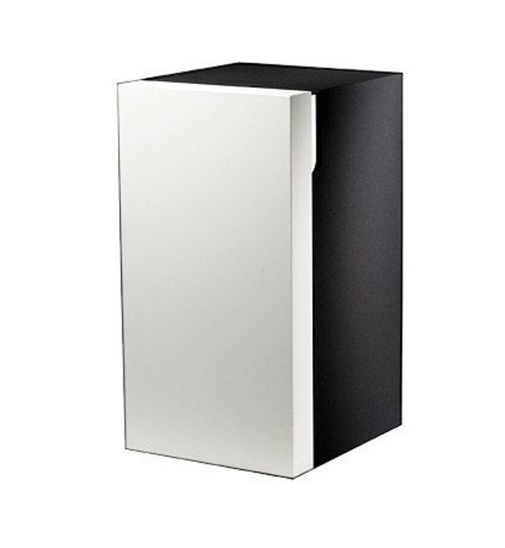 Keuco 30332214001 Edition 300 Modern Bathroom Cabinet With Configuration: Hinge: Left| Body Finish: High Gloss White Alpine | Front Finish: Sahara |