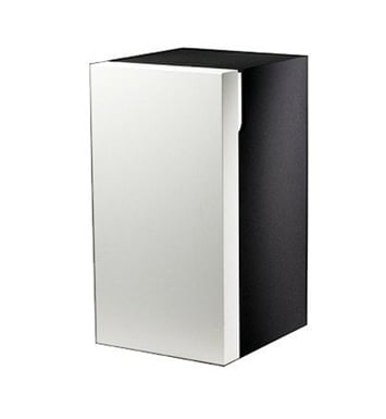 Keuco 30332219102 Edition 300 Modern Bathroom Cabinet With Configuration: Hinge: Right| Body Finish: High Gloss White Alpine | Front Finish: Olive Veneer |