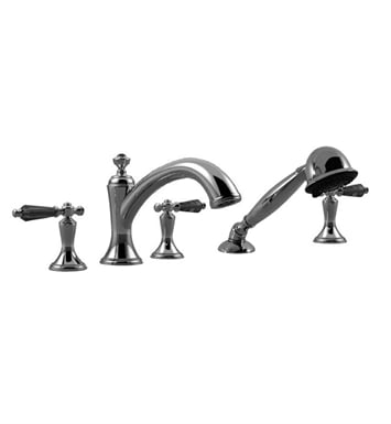 Santec 9555KT Klassica Crystal Roman Tub Filler with Hand Held Shower and KT Style Handles