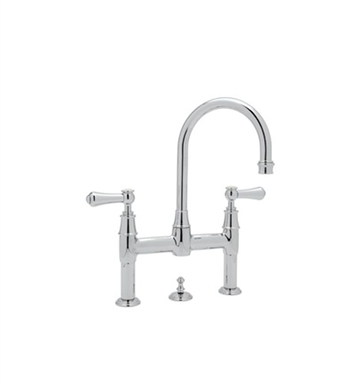 Rohl U-3708-2 Perrin & Rowe® Georgian Era Deck Mount Lavatory Bridge Faucet with Pop-Up