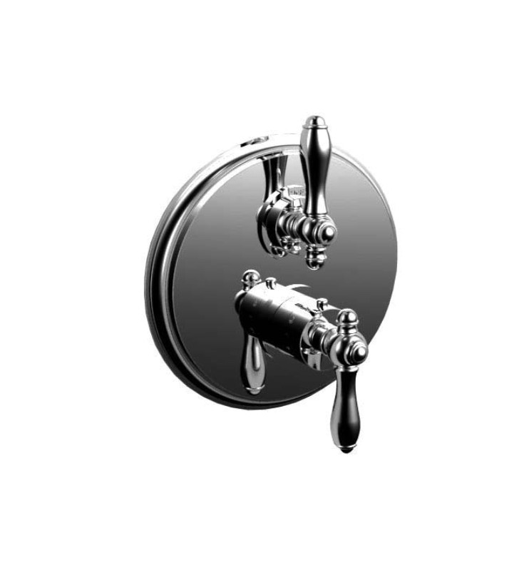 Santec 7095JZ Kriss V JZ Style Dual Thermostatic Handle with Volume Control & Trim Plate