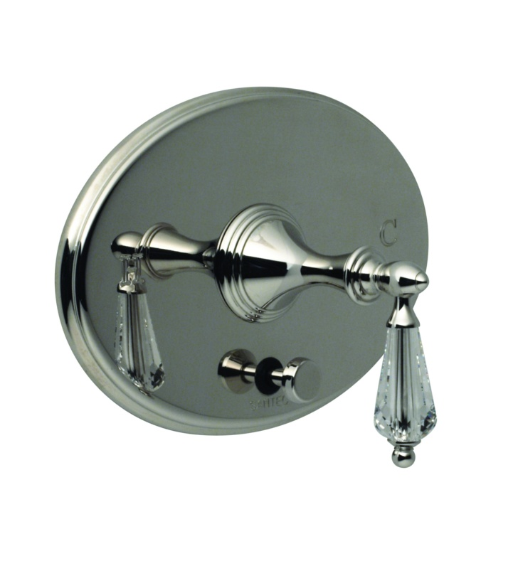 Santec 2535YC Lear Crystal YC Style Handle with Diverter & Plate