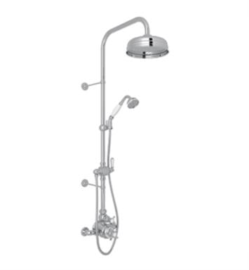 Rohl U.KIT1NX-IB Perrin and Rowe Edwardian Thermostatic Shower Package with Single Function Showerhead With Finish: Inca Brass And Handles: Spokes Cross Handles