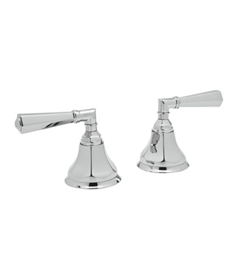 "Rohl A7922XM-TCB Palladian Pair of 3/4"" Hot and Cold Sidevalves Only With Finish: Tuscan Brass <strong>(SPECIAL ORDER, NON-RETURNABLE)</strong> And Handles: Palladian Metal Cross Handles"