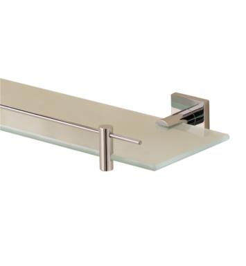 "Valsan 67665NI Braga 19 3/4"" Wall Mount Glass Shelf with Gallery With Finish: Polished Nickel"