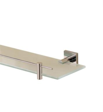"Valsan 67686NI Braga 23 5/8"" Wall Mount Glass Shelf with Gallery With Finish: Polished Nickel"