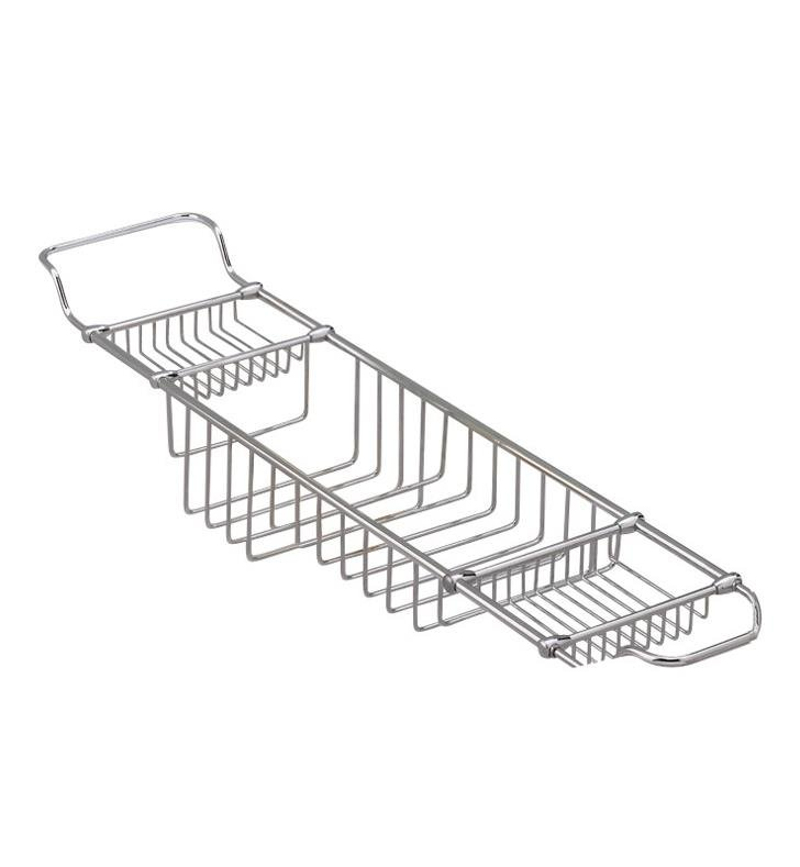 "Valsan 53412 Essentials 34"" Traditional Adjustable Large Bathtub Rack"