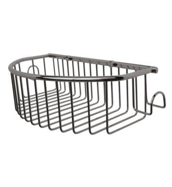 "Valsan 53435 Essentials 14 1/4"" Wall Mount Curved Basket with Hooks"