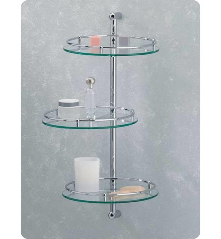 Valsan 57302 essentials 11quot wall mount three tier glass for Valsan bathrooms