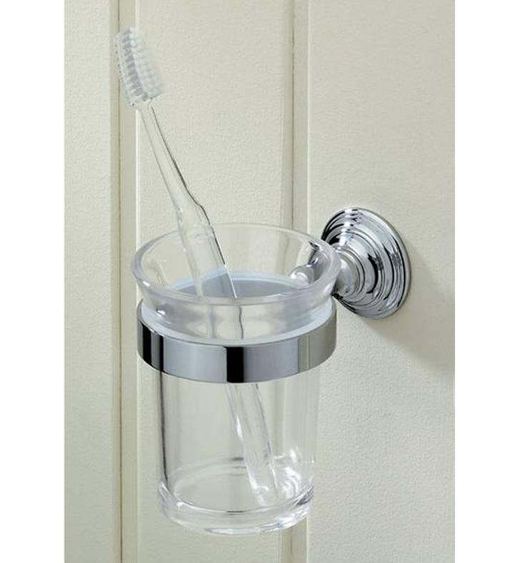 Valsan 66325cr kingston 3 1 8quot wall mount toothbrush for Valsan bathrooms