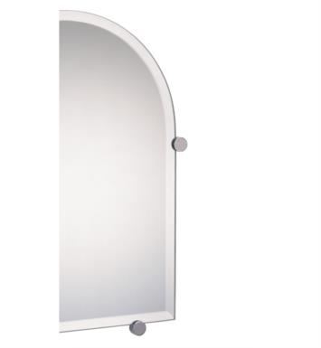"Valsan 671011ES Nova 16 3/8"" Frameless Arched Wall Mirror with Fixing Caps With Finish: Satin Nickel"