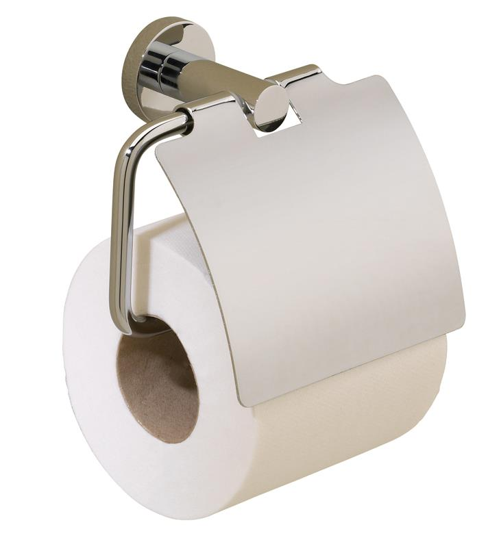 Valsan 67520cr Porto 5 1 4 Wall Mount Toilet Paper Holder With Lid With Finish Chrome