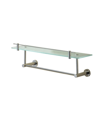 Valsan 675651CR Porto Glass Shelf with Gallery Rail and Under Rail With Finish: Chrome