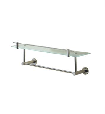 "Valsan 675861CR Porto 23 5/8"" Wall Mount Glass Shelf with Gallery and Under Rail With Finish: Chrome"