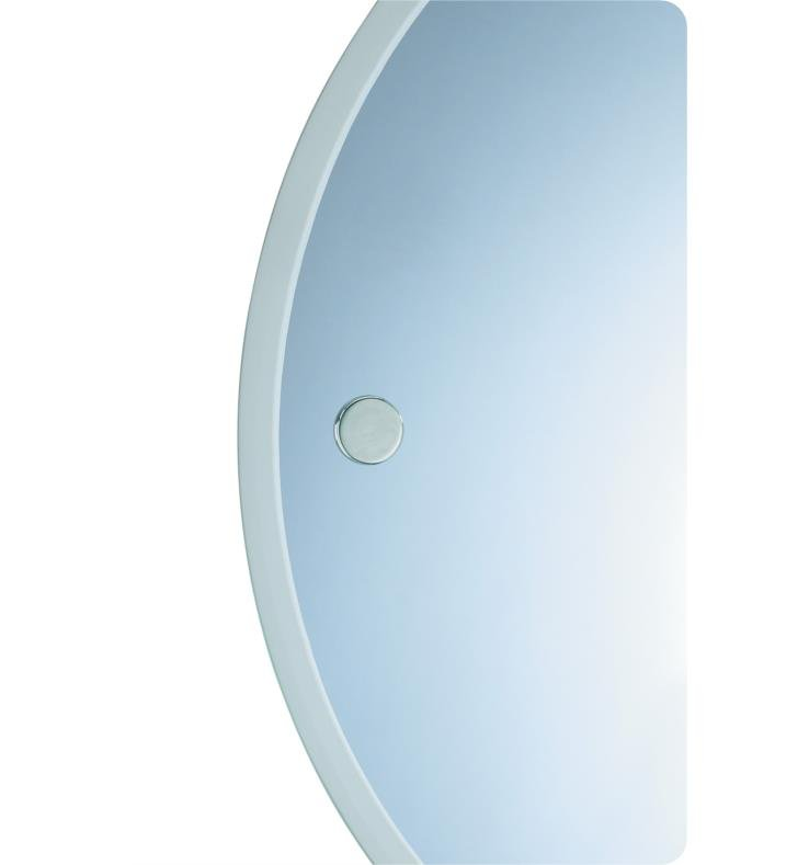 "Valsan 675011 Porto 18 3/4"" Frameless Round Wall Mirror with Fixing Caps"