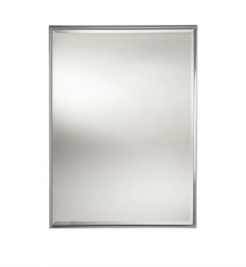"Valsan 53206NI Essentials 24 3/4"" Framed Rectangular Wall Mirror with Bevel With Finish: Polished Nickel"