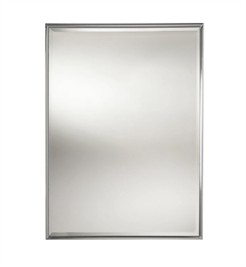 Valsan 53206ES Valdemar Dos Santos Bathroom Rectangular Framed Mirror with Bevel With Finish: Satin Nickel